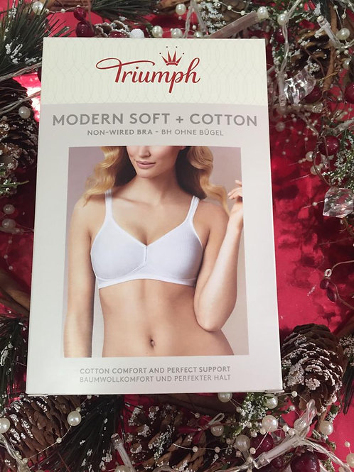 TRIUMPH Modern Soft +Cotton Non Wired White Bra