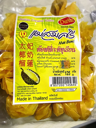 Durian Toffee Candy 125g.