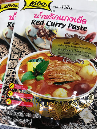 LOBO Red Curry Paste 50g. (Pack 2)