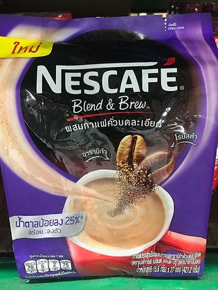 NESCAFE 3in1 Coffee - Low Sugar 25% 421.2g. (15.6g. x 27Pcs.)