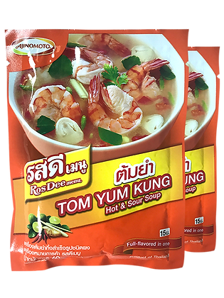 ROS DEE Menu Tom Yum Powder Size 60g. Pack 2