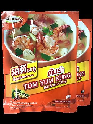 ROS DEE Menu Tom Yum Powder Size 60g. Pack 2