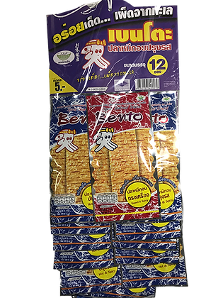 BENTO Hot and Spicy Squid Snack 4.5g. (Pack 12)