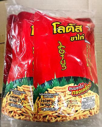 LOTUS Original Flavoured Biscuit Stick Size 50g. (Pack 4)