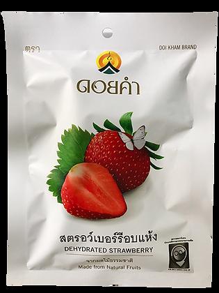 Dehydrated Strawberry DOI KHAM BRAND Size 30g.