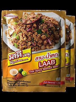 ROS DEE Menu LAAB - Thai Spicy Minced Meat Size 30g. Pack 2