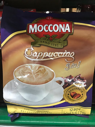 MOCCONA Cappuccino 3in1 Coffee 300g. (25g. x 12Pcs.)