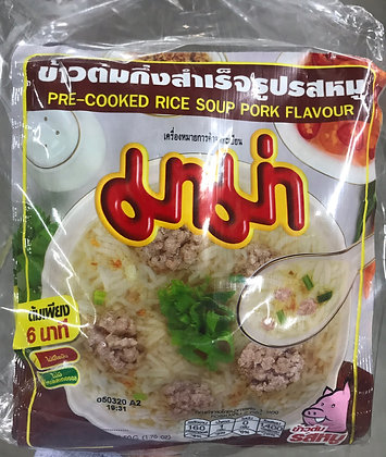 MAMA Pre-Cooked Rice Soup - Ros Moo (50g.x 10 Pcs.)