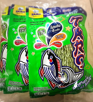 TARO Korean Seaweed Flavoured Fish Snack Size 25g Pack 6
