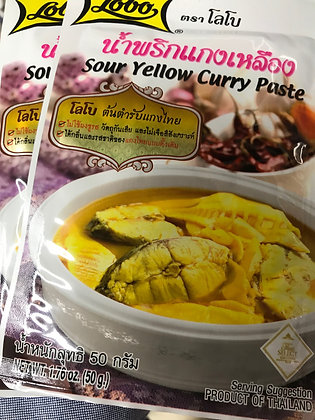 LOBO Sour Yello Curry Paste 50g. (Pack 2)