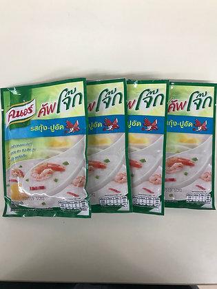 KNORR Jok Shrimp & Crab Flavor Instant Jasmine Rice 35g. PACK 4