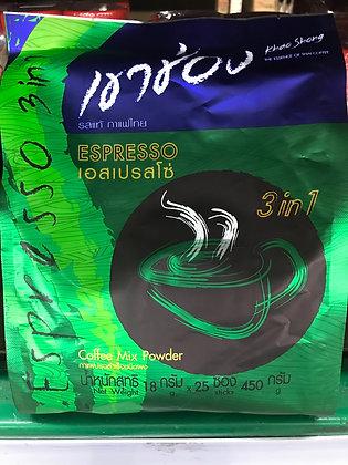 KhaoChong 3in1 Coffee - Espresso 450g. (18g.x 25Pcs.)