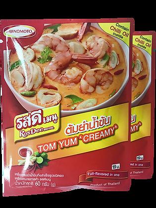 ROS DEE Menue Tom Yum Creramy Powder Size 60g. Pack 2