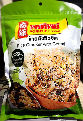 PORNTIP Rice Cracker with Cereal 100g.