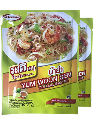 ROS DEE Menu Thai Spicy Salad Powder Size 40g. Pack 2
