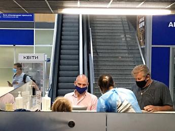 COVID-19 PCR testing at Ukrainian airports of Odesa, Kharkiv, Lviv, and Kyiv.