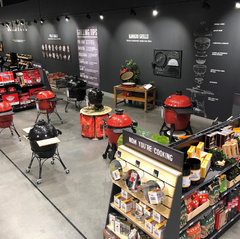 Grilling tips and store design, Barbeques Galore