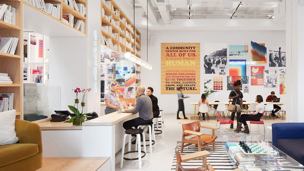 A communal office design space