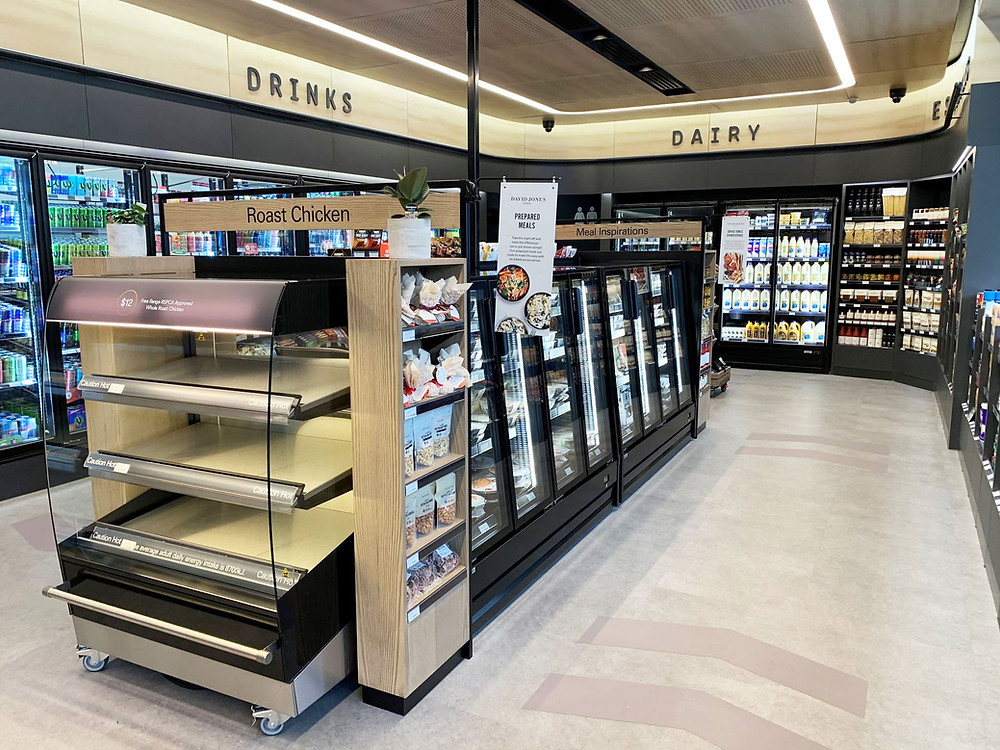 The David Jones bp convenience retail store design