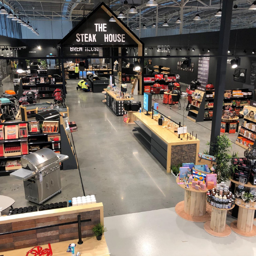 The new Barbeques Galore store design at Everton Park, QLD