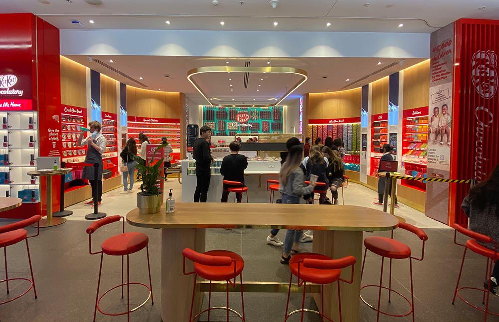 KitKat Chocolatory's storefront design