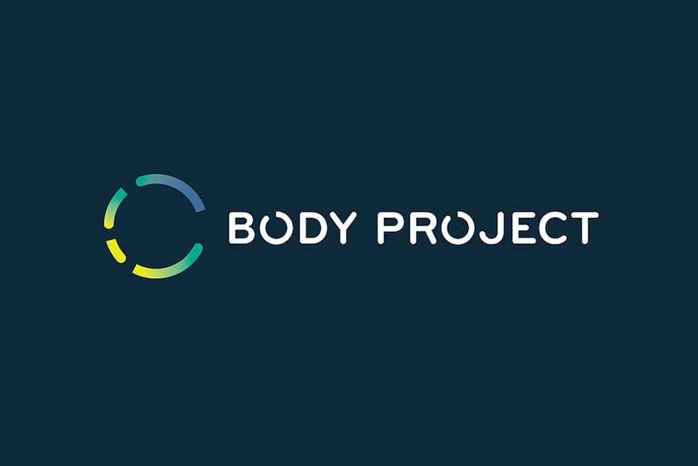 body-project-graphic-design-logo-on-blue