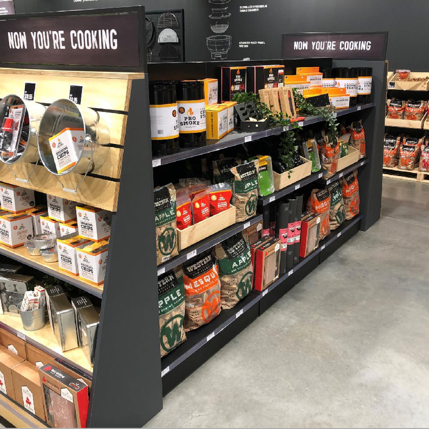 Shelf design and store layout, Barbeques Galore