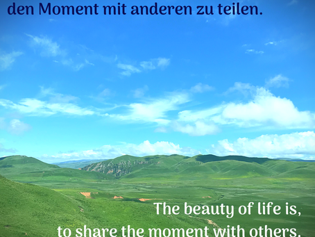 Den Moment teilen / to share the moment