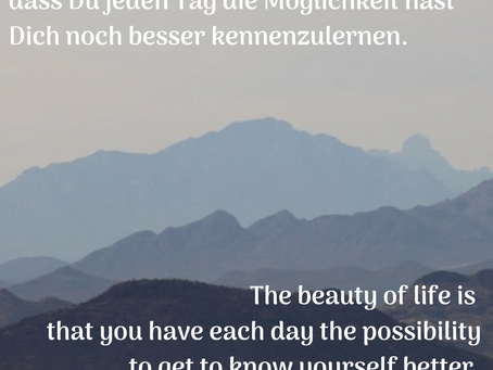 Dich selber besser kennenlernen / to get to know yourself better