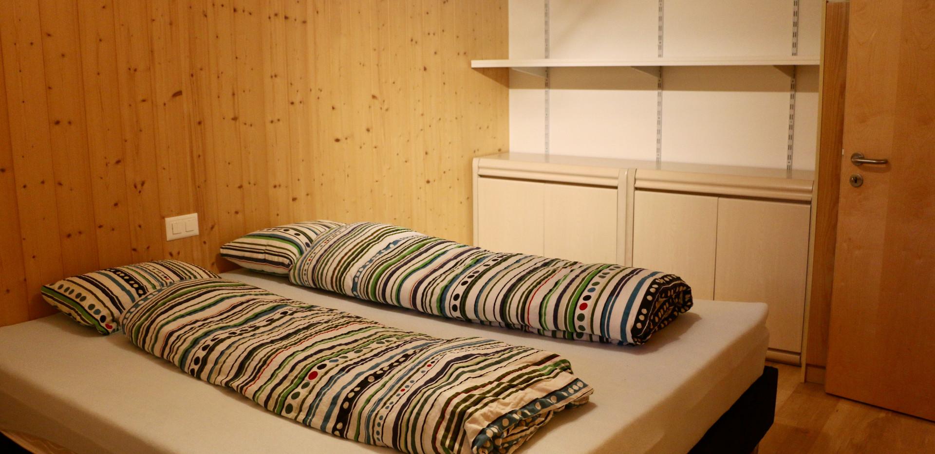 Schlafzimmer und Stauraum