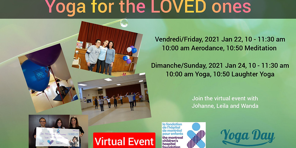 Yoga for the LOVED ones 2021 - Aerodance and Meditation