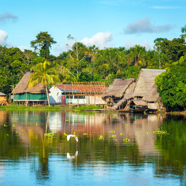 Explore a Village in the Amazon Jungle