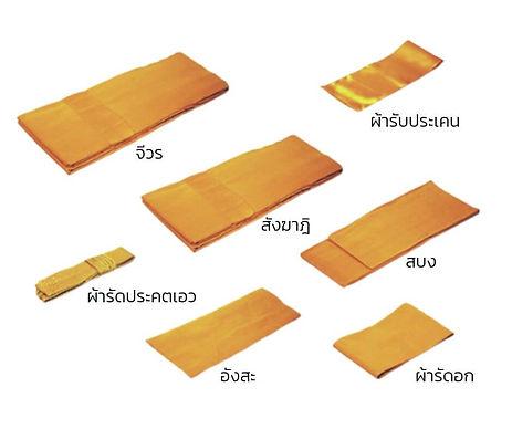 เครื่องไทยธรรม ชุดสังฆทานยา ผ้าไตรจีวรเต