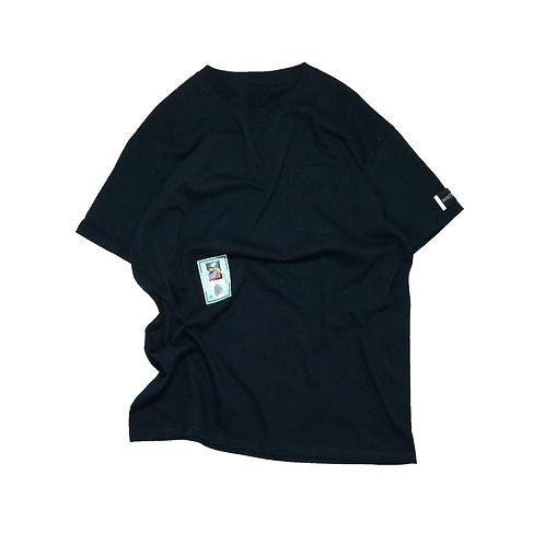 elephant TRIBAL fabrics TEE(D-ID) BLACK