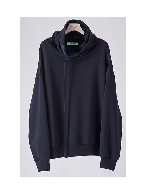 APOCRYPHA. Neck Warm Sweat - Navy