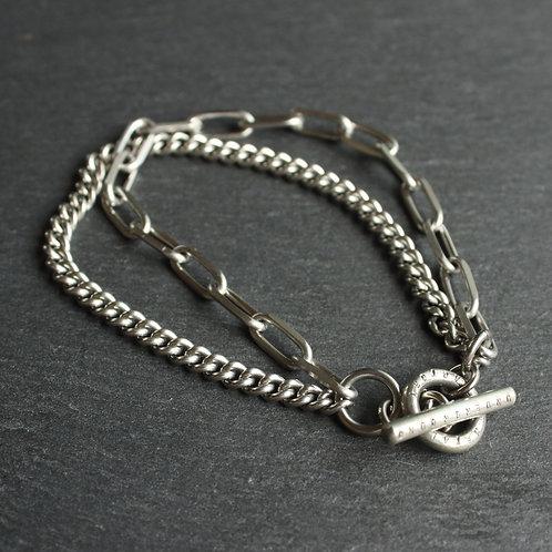 UNDERGROUND METAL FACTORY【Mix Chain Bracelet】#Type2