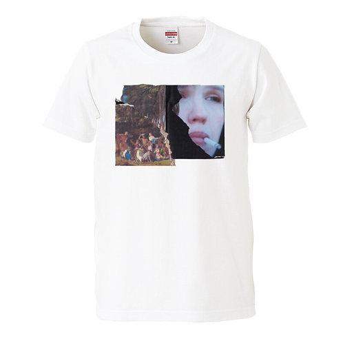 "YABIKU HENRIQUE YUDI  ""Untitled"" COLLAGE T-shirt"