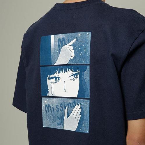 Dilemma Missing You Tshirt - Navy