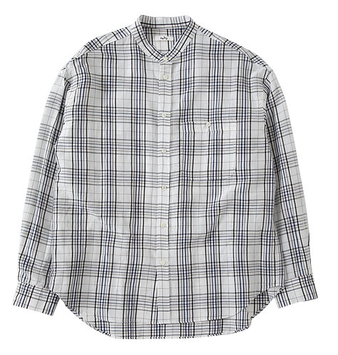 saby BAND COLLAR LINEN SHIRTS - Off White