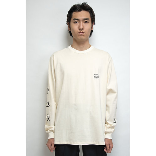 NULABEL CM1YOK42 Fall/Winter 2020 PATCH TEE L/S TEE - Natural