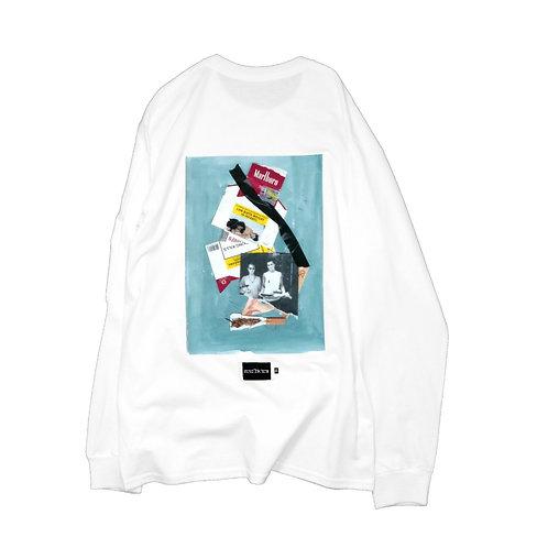 elephant TRIBAL fabrics L/S TEE(A-Marlboro) WHITE