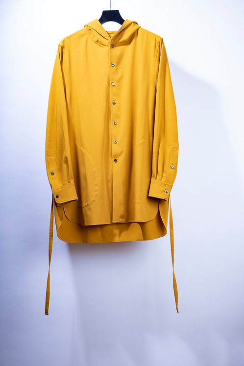 prasthana strings hooded shirt - Mustard