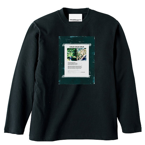 """<Pre Sale 40%OFF >NOUVERTEmagazine L/S T""""COLD COLD COLD""""by Ku Xiong Tai - BLACK"""