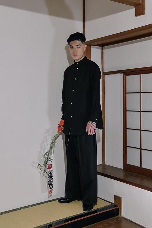 <Pre Sale 20%OFF>GENKOTSU CREATE GORO SHIRTS -ST- CONCHO BUTTON - Black