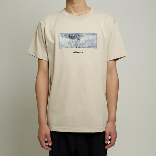Dilemma Couple Lenticular Tshirt - Beige