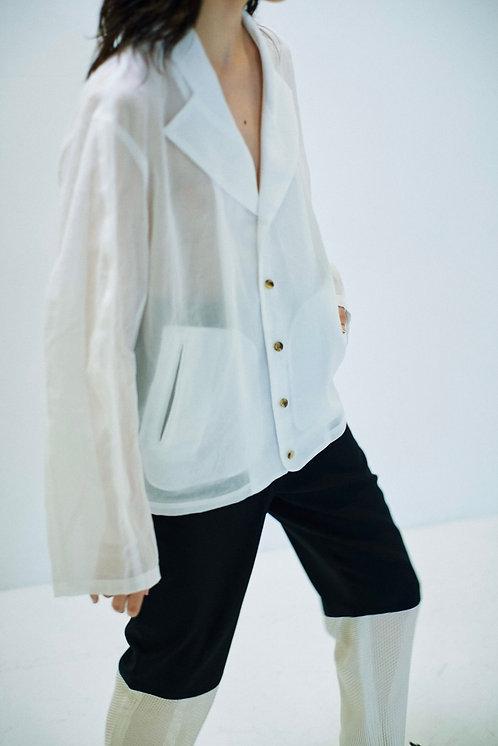 """RANDY Theatre """"blouson shirt""""- White"""