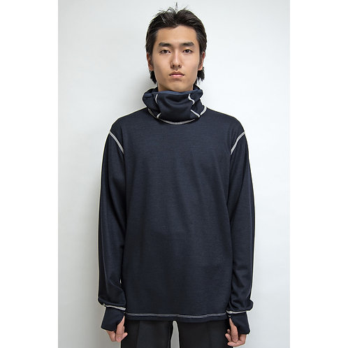 NULABEL CM1YOK42 Fall/Winter 2020 BALACLAVA TEE L/S - Midnight