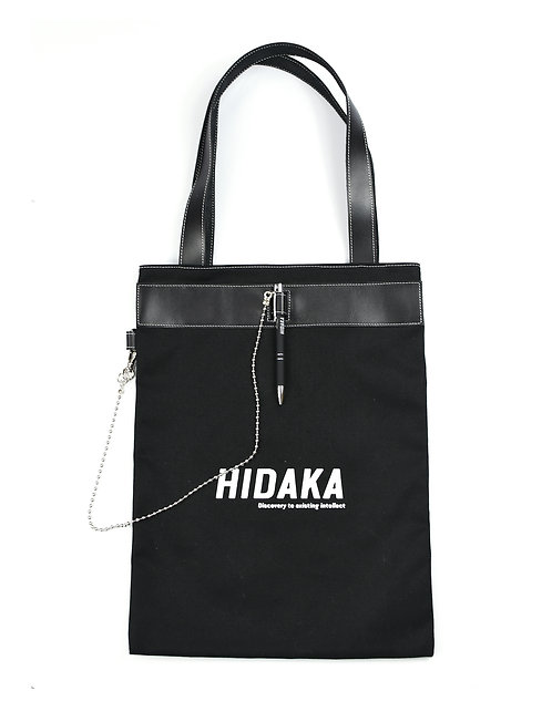 HIDAKA Pen buckle tote bag - Black