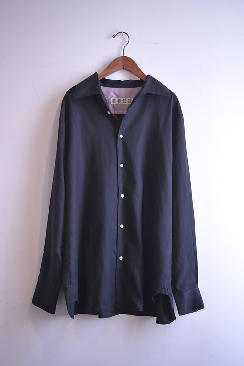 GENKOTSU CREATE GORO SHIRT -Italian collar - Black