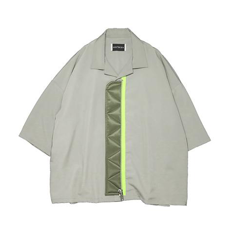 elephant TRIBAL fabrics MA-1 shirt